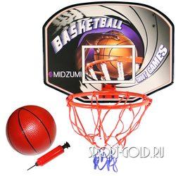 Аксессуар для ДСК Midzumi Баскетбольный щит с мячом и насосом BS01540