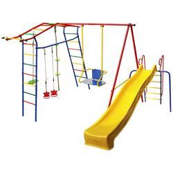Детский спортивный комплекс для дачи КМС Игромания Дачный с горкой