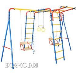 Детский спортивный комплекс для дачи ЮНЫЙ АТЛЕТ Уличный с двумя качелями