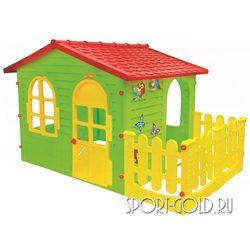 Детский игровой домик MOCHTOYS 10498 с забором садовый