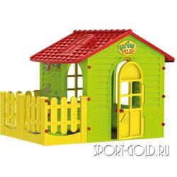 Детский игровой домик MOCHTOYS 10839 с забором