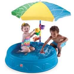 Бассейн-песочница Step2 с зонтиком для малышей