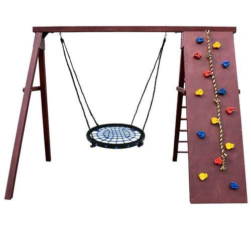 Детский спортивный комплекс для дачи Kampfer Rocky Гнездо 62 см синее