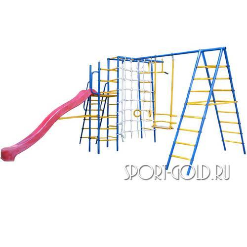 Детский спортивный комплекс для дачи Kampfer Total Playground С красной горкой
