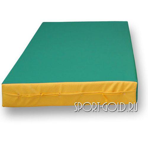 Спортивный мат АССОРТИ №1, 50х100х10 см Зелено-желтый