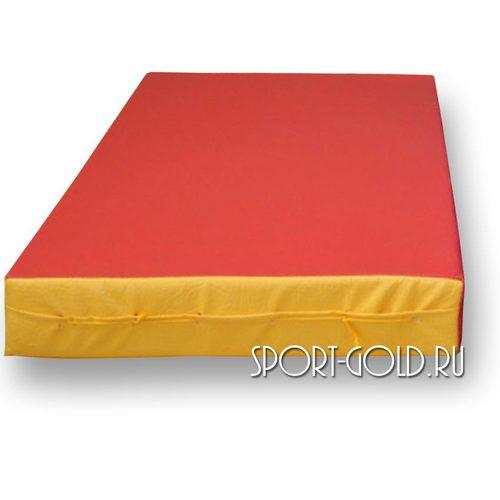 Спортивный мат АССОРТИ №1, 50х100х10 см Красно-желтый