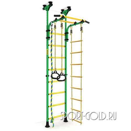 Детский спортивный комплекс Kampfer Strong Kid Ceiling Зелено-желтый