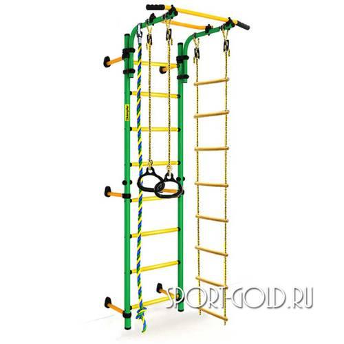 Детский спортивный комплекс Kampfer Strong Kid Wall Зелено-желтый