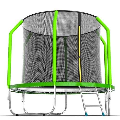 Батут EVO Jump Cosmo 8ft (2,44м) с сеткой и лестницей Без нижней сетки
