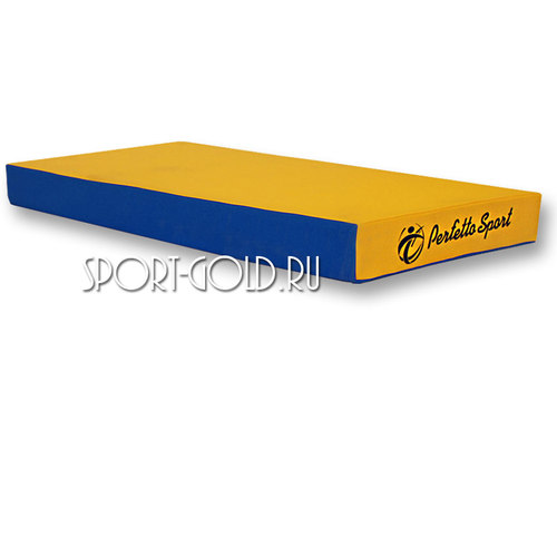 Спортивный мат Perfetto Sport №1, 50х100х10 см, нескладной Сине-желтый