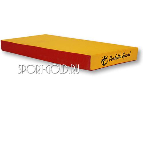 Спортивный мат Perfetto Sport №1, 50х100х10 см, нескладной Красно-желтый