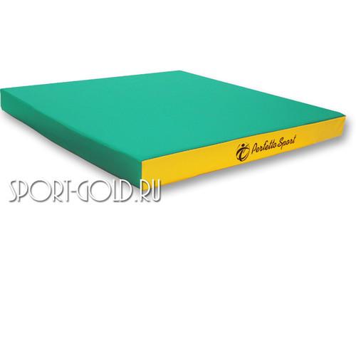 Спортивный мат Perfetto Sport №2, 100х100х10 см, нескладной Зелено-желтый