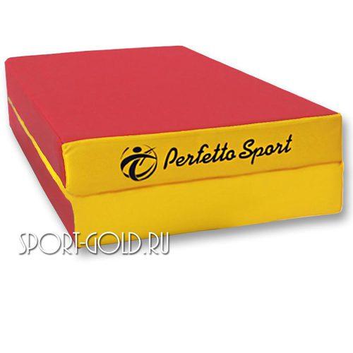 Спортивный мат Perfetto Sport №3, 100х100х10 см, 1 сложение Красно-желтый