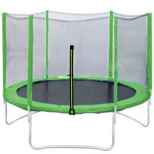 Батут DFC Trampoline Fitness 16ft (4,88 м) с сеткой Зеленый
