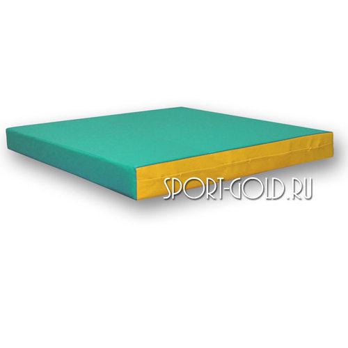 Спортивный мат АССОРТИ №2, 100х100х10 см Зелено-желтый