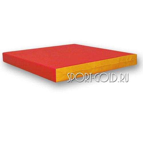 Спортивный мат АССОРТИ №2, 100х100х10 см Красно-желтый