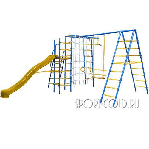 Детский спортивный комплекс для дачи Kampfer Total Playground С желтой горкой
