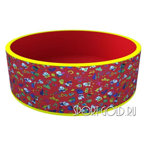Сухой бассейн ROMANA Веселая поляна без шариков Красный