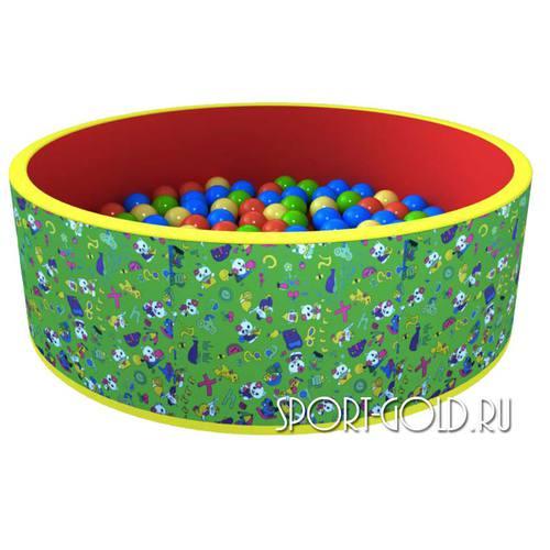 Сухой бассейн с шариками ROMANA Веселая поляна 100 шаров, Зеленый