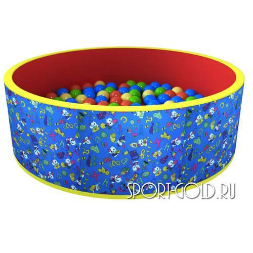 Сухой бассейн с шариками ROMANA Веселая поляна 100 шаров, Синий