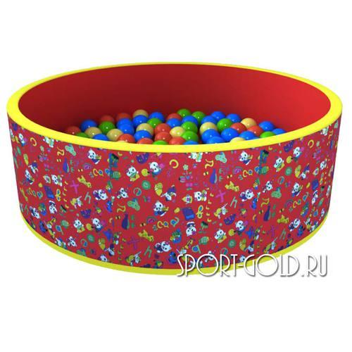 Сухой бассейн с шариками ROMANA Веселая поляна 100 шаров, Красный