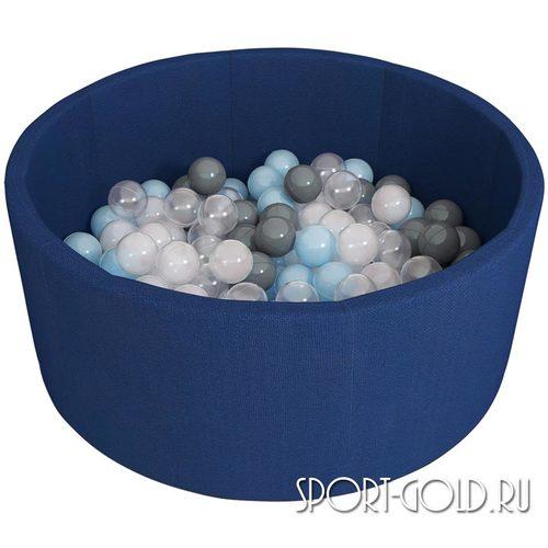 Сухой бассейн с шариками ROMANA Airpool синий, серый Темно-синий