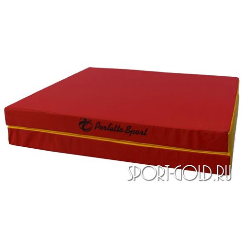 Спортивный мат Perfetto Sport №8, 200х100х10 см, 1 сложениe Красно-желтый