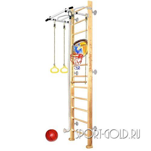 Детский спортивный комплекс Kampfer Helena Wall Basketball Shield 3.0 м, Натуральный (лак)