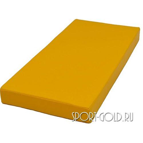 Спортивный мат АССОРТИ №1, 50х100х10 см Желтый