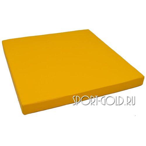 Спортивный мат АССОРТИ №2, 100х100х10 см Желтый