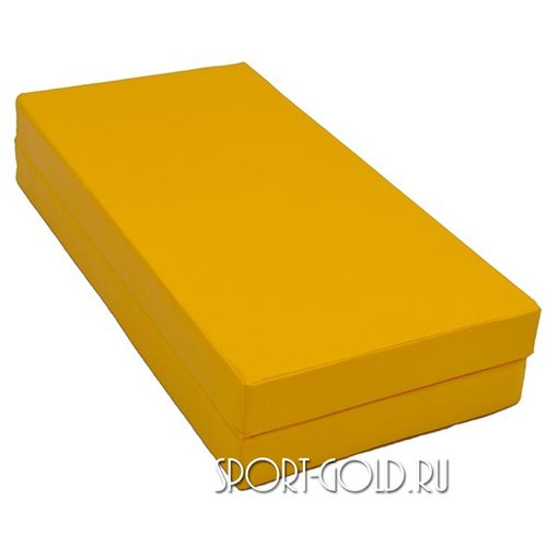 Спортивный мат АССОРТИ №3, 100х100х10 см, складной, 2 секции Желтый