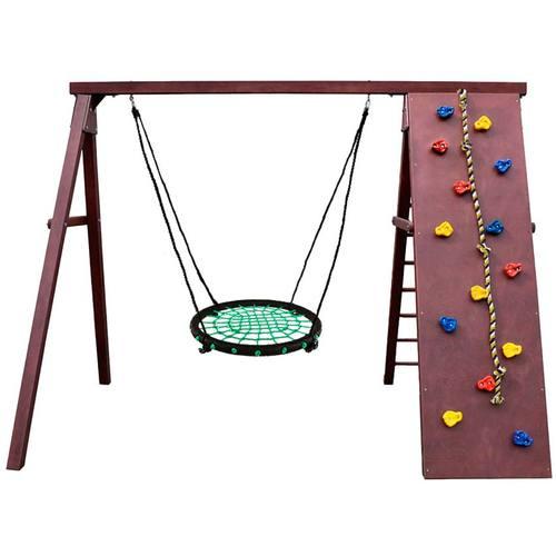 Детский спортивный комплекс для дачи Kampfer Rocky Гнездо 62 см зеленое