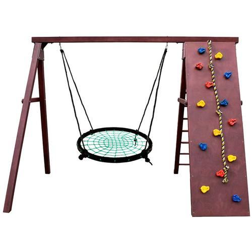 Детский спортивный комплекс для дачи Kampfer Rocky Гнездо 100 см зеленое