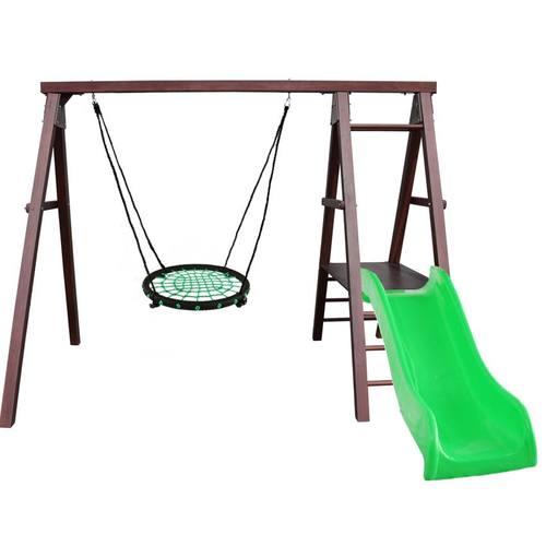 Детский спортивный комплекс для дачи Kampfer Lucky Гнездо 62 см зеленое