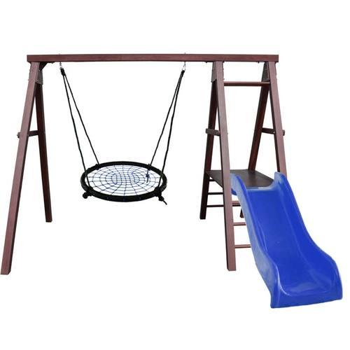 Детский спортивный комплекс для дачи Kampfer Lucky Гнездо 100 см синее