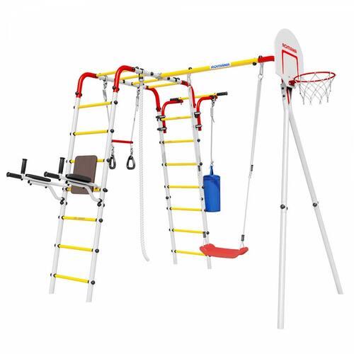 Детский спортивный комплекс для дачи ROMANA Fitness Пластиковые качели