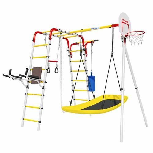Детский спортивный комплекс для дачи ROMANA Fitness Качели пластик+доп.