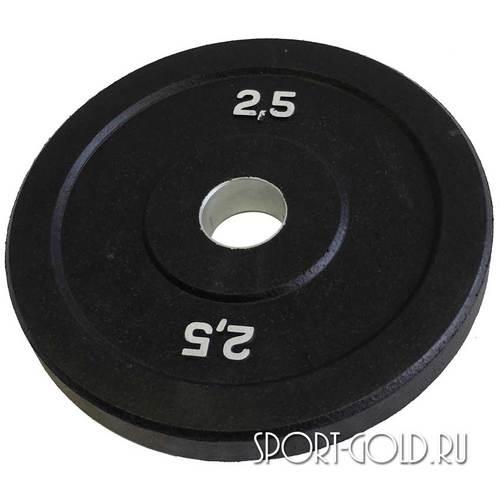 Диски для штанги Original FitTools бамперный 51 мм 2.5 кг