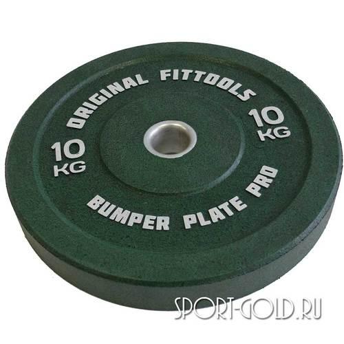 Диски для штанги Original FitTools бамперный 51 мм 10 кг