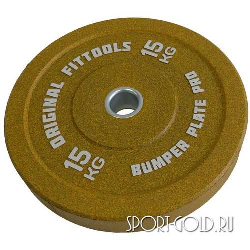 Диски для штанги Original FitTools бамперный 51 мм 15 кг