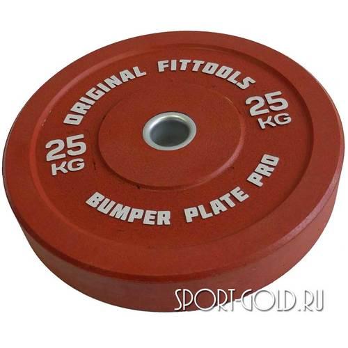 Диски для штанги Original FitTools бамперный 51 мм 25 кг