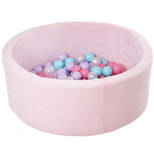 Сухой бассейн с шариками ROMANA Airpool MAX розовый, голубой, серый Розовый