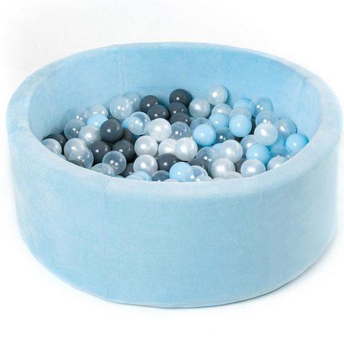 Сухой бассейн с шариками ROMANA Airpool MAX розовый, голубой, серый Голубой