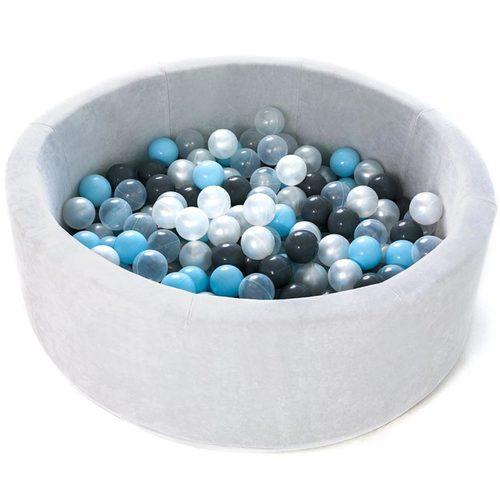 Сухой бассейн с шариками ROMANA Airpool MAX розовый, голубой, серый Серый