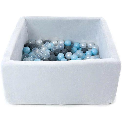 Сухой бассейн с шариками ROMANA Airpool BOX розовый, голубой, серый Серый