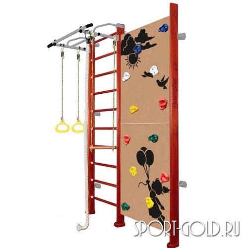 Детский спортивный комплекс Kampfer Jungle Wall (Girl, Boy) 2.42 м, Вишневый