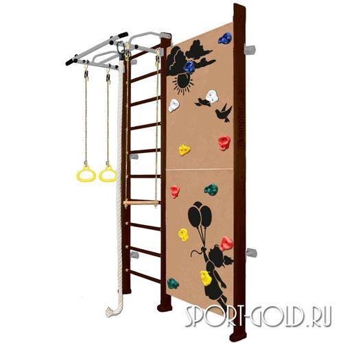 Детский спортивный комплекс Kampfer Jungle Wall (Girl, Boy) 2.42 м, Шоколадный
