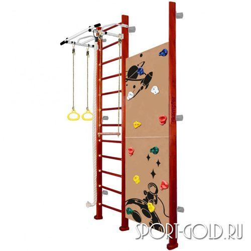 Детский спортивный комплекс Kampfer Jungle Wall (Girl, Boy) 3.0 м, Вишневый