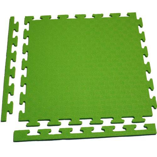 Аксессуар для тренажеров DFC Маты-пазлы для фитнеса (1 элемент + 2 бордюра) Зеленый