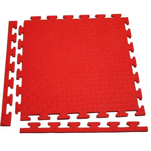 Аксессуар для тренажеров DFC Маты-пазлы для фитнеса (1 элемент + 2 бордюра) Красный
